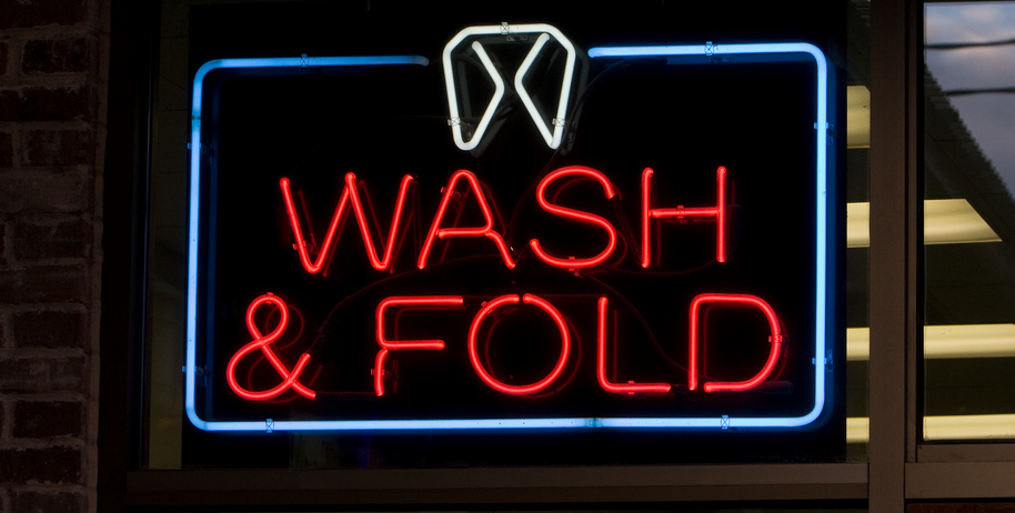 Wash and Fold sign