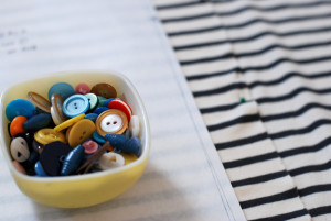 Sewing and buttons