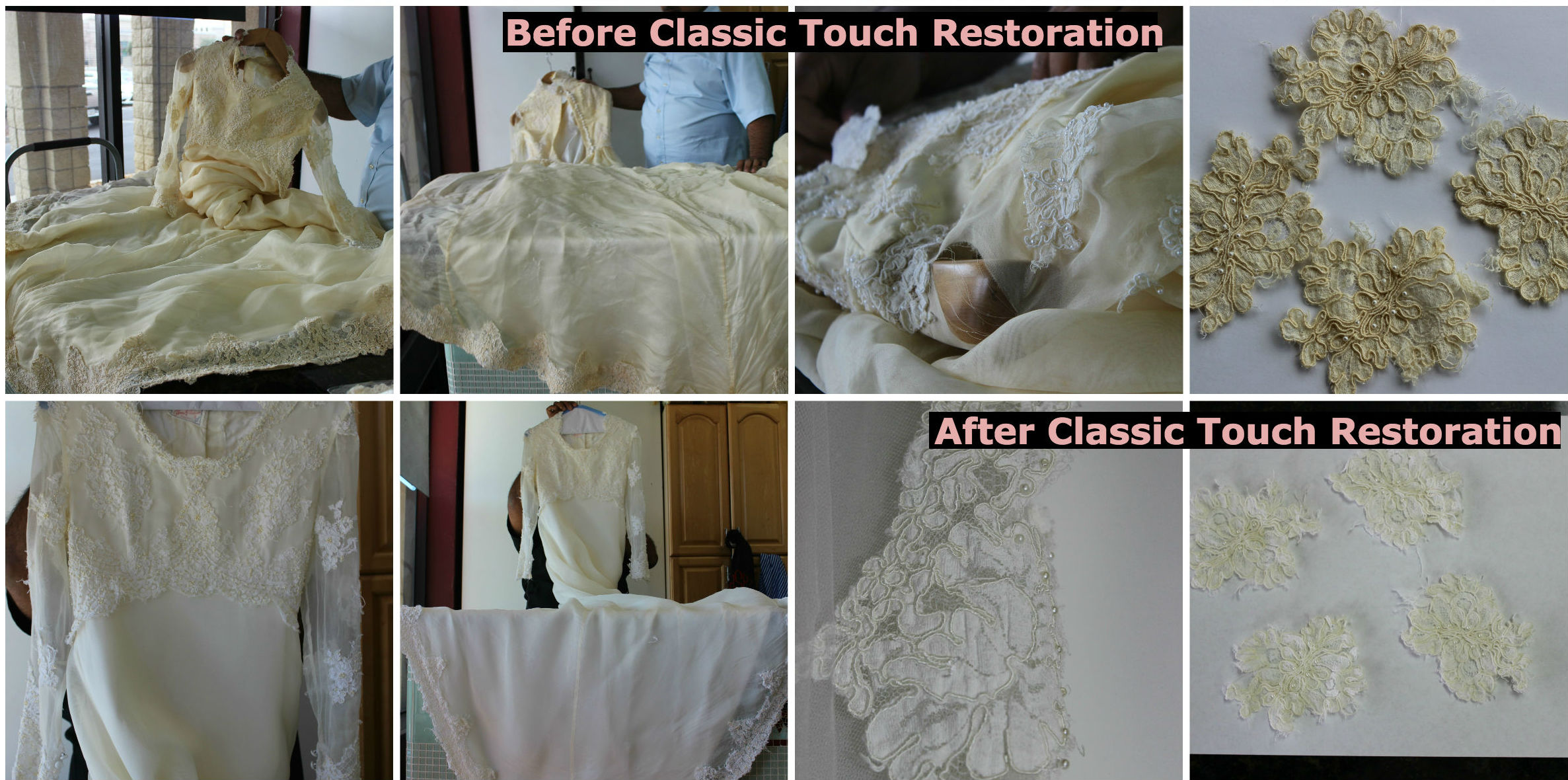 Wedding Dress Restoration | Atlanta | Classic Touch Cleaners