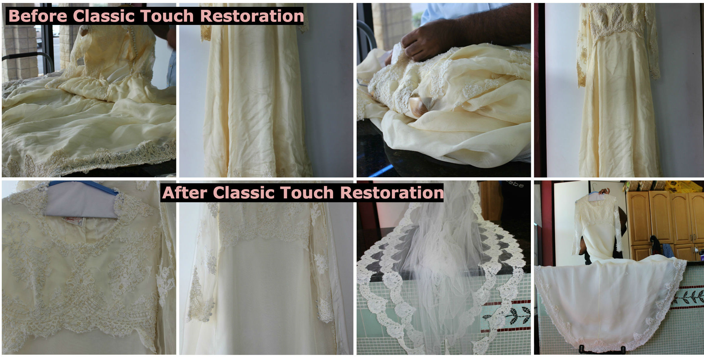Wedding Dress Restoration Atlanta Classic Touch Cleaners
